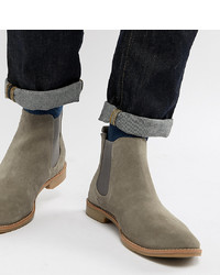 graue Chelsea-Stiefel aus Wildleder von ASOS DESIGN