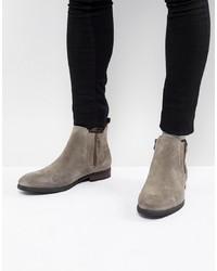 graue Chelsea-Stiefel aus Wildleder von Call it SPRING