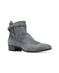 graue Chelsea-Stiefel aus Wildleder von Officine Creative
