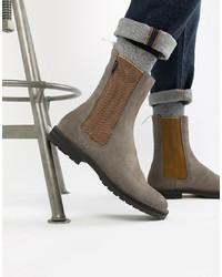 graue Chelsea-Stiefel aus Wildleder von PS Paul Smith