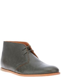graue Chukka-Stiefel aus Leder