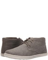 graue Chukka-Stiefel aus Segeltuch