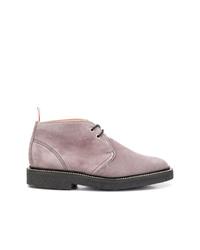 graue Chukka-Stiefel aus Wildleder von Thom Browne