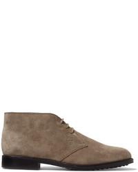 graue Chukka-Stiefel aus Wildleder von Tod's