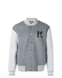 graue Collegejacke von Karl Lagerfeld