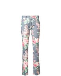 graue enge Jeans mit Blumenmuster von Junya Watanabe