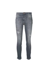 graue enge Jeans mit Destroyed-Effekten von Closed