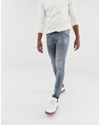 graue enge Jeans von ASOS DESIGN