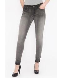 graue enge Jeans von BLUE MONKEY