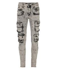 graue enge Jeans von Cipo & Baxx