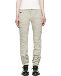 graue enge Jeans von Diesel Black Gold