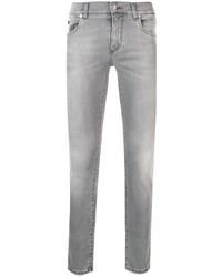 graue enge Jeans von Dolce & Gabbana