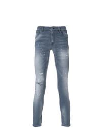 graue enge Jeans von Dondup
