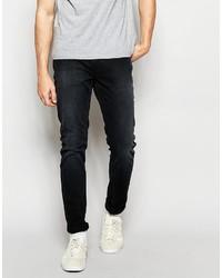 graue enge Jeans von Farah