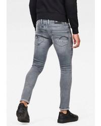 graue enge Jeans von G-Star RAW