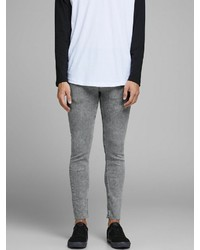 graue enge Jeans von Jack & Jones