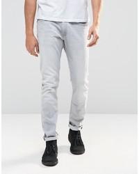 graue enge Jeans von Lee