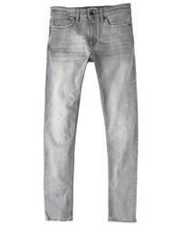 graue enge Jeans von Mango