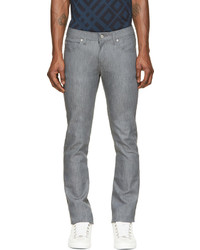 graue enge Jeans von Naked & Famous Denim