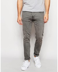 graue enge Jeans von ONLY & SONS