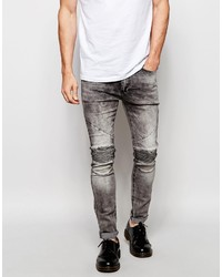 graue enge Jeans von Religion