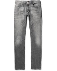 graue enge Jeans von Saint Laurent