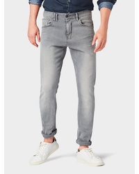 graue enge Jeans von Tom Tailor Denim