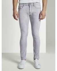 graue enge Jeans von Tom Tailor