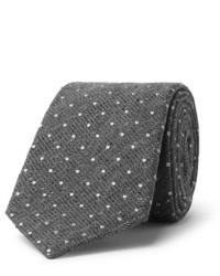 graue gepunktete Wollkrawatte von Canali