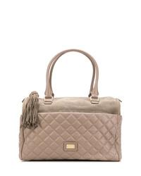 graue gesteppte Shopper Tasche aus Leder von Moschino Cheap & Chic