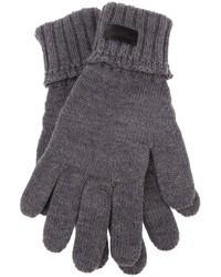 graue Handschuhe von Saint Laurent