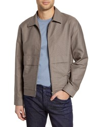 graue Harrington-Jacke
