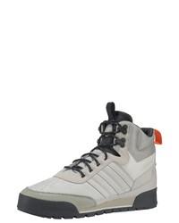 graue hohe Sneakers aus Leder von adidas Originals