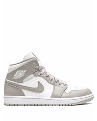 graue hohe Sneakers aus Leder von Jordan