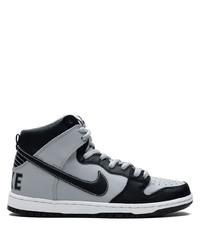 graue hohe Sneakers aus Leder von Nike