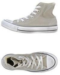 graue Hohe Sneakers aus Segeltuch