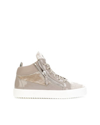 graue hohe Sneakers aus Wildleder von Giuseppe Zanotti Design