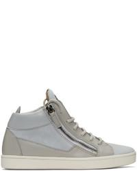graue hohe Sneakers aus Wildleder von Giuseppe Zanotti
