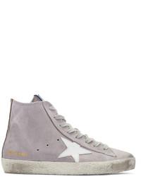 graue hohe Sneakers aus Wildleder von Golden Goose Deluxe Brand