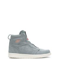 graue hohe Sneakers aus Wildleder von Nike