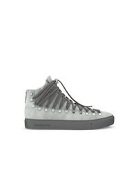 graue hohe Sneakers aus Wildleder von Swear