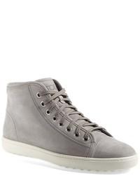 graue hohe Sneakers