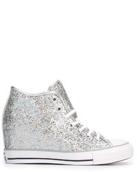 graue hohe Sneakers von Converse