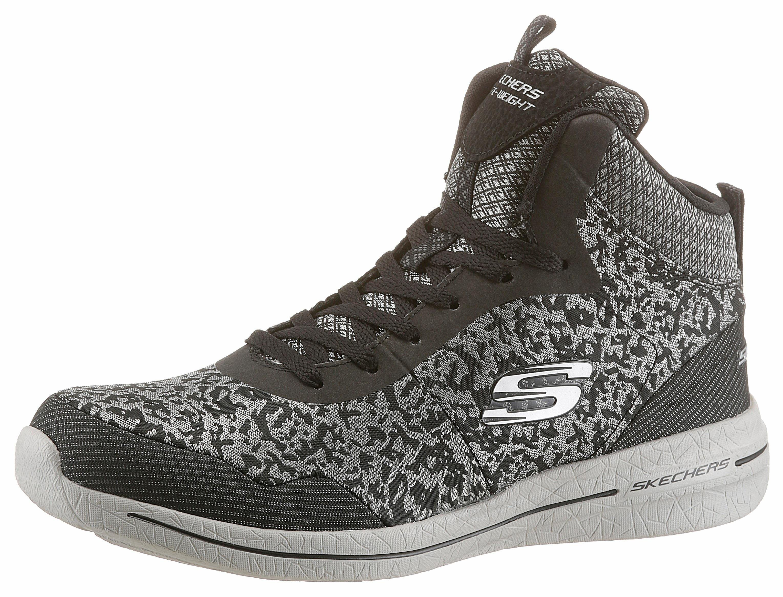 5e44e84c02ba61 ... graue hohe Sneakers von Skechers ...