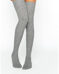 graue hohen Socken von Jonathan Aston