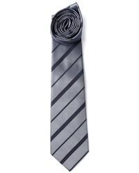 graue horizontal gestreifte Krawatte