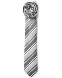 graue horizontal gestreifte Krawatte von Jil Sander