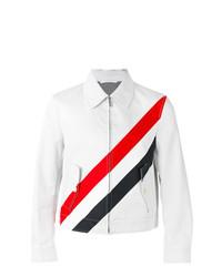 graue horizontal gestreifte Shirtjacke von Thom Browne