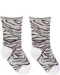 graue horizontal gestreifte Socken von Kenzo
