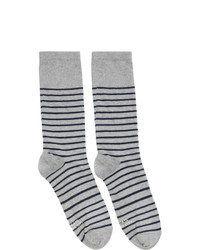 graue horizontal gestreifte Socken von Saturdays Nyc